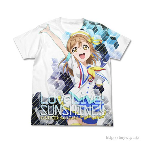 LoveLive! Sunshine!! (中碼)「國木田花丸」白色 全彩 T-Shirt Hanamaru Kunikida Full Graphic T-Shirt / White - M【Love Live! Sunshine!!】