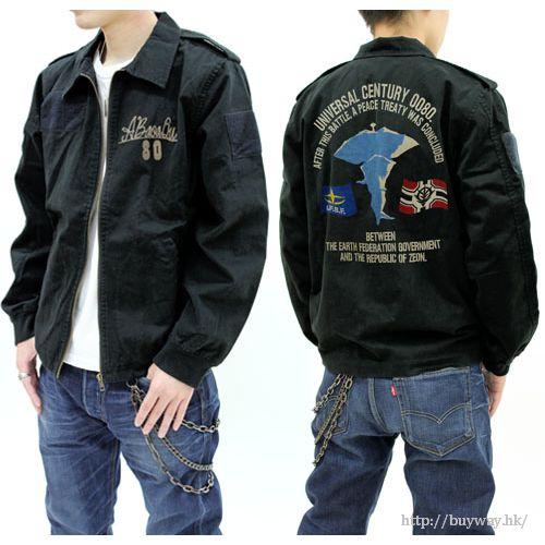 機動戰士高達系列 (加大)「A Baoa Qu」黑色 外套 A Baoa Qu Embroidery Tour Jacket XL【Mobile Suit Gundam Series】