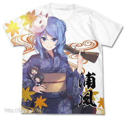 艦隊 Collection -艦Colle- 「浦風」浴衣の浦風 白色 全彩 T-Shirt Yukata no Urakaze Full Graphic T-Shirt / White - XL【Kantai Collection -KanColle-】
