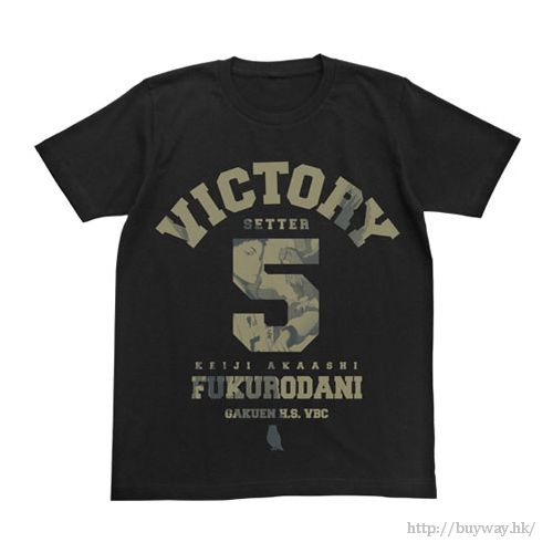 排球少年!! (細碼)「赤葦京治」黑色 T-Shirt Keiji Akaashi T-Shirt / Black - S【Haikyu!!】