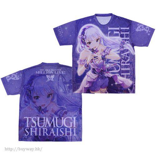 """偶像大師 百萬人演唱會! (中碼)「白石紬」邁向夢想的一步 全彩 T-Shirt """"Fumidashita Yume e no Ippo"""" Tsumugi Shiraishi Double-sided Full Graphic T-Shirt - M【The Idolm@ster Million Live!】"""