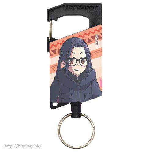 """搖曳露營△ 「大垣千明」伸縮匙扣 """"Chiaki Oogaki"""" Full Color Reel Keychain【Laid-Back Camp】"""