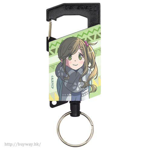 """搖曳露營△ 「犬山葵」伸縮匙扣 """"Aoi Inuyama"""" Full Color Reel Keychain【Laid-Back Camp】"""