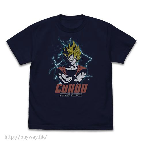 龍珠 (加大)「孫悟空」最強の戰士 深藍色 T-Shirt Saikyu no Senshi Goku T-Shirt / NAVY - XL【Dragon Ball】