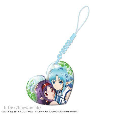 刀劍神域系列 「有紀 + 亞絲娜」心形手機清潔掛飾 Heart Smartphone Cleaner Design 09 Yuuki + Asuna【Sword Art Online Series】