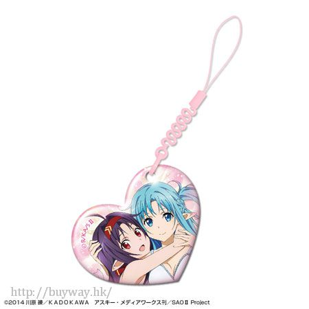 刀劍神域系列 「有紀 + 亞絲娜」心形手機清潔掛飾 Heart Smartphone Cleaner Design 010 Yuuki + Asuna【Sword Art Online Series】