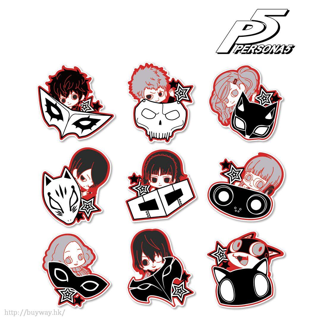 女神異聞錄系列 除下面具 亞克力磁貼 (9 個入) Acrylic Magnet Hyokkori Motif Ver. (9 Pieces)【Persona Series】