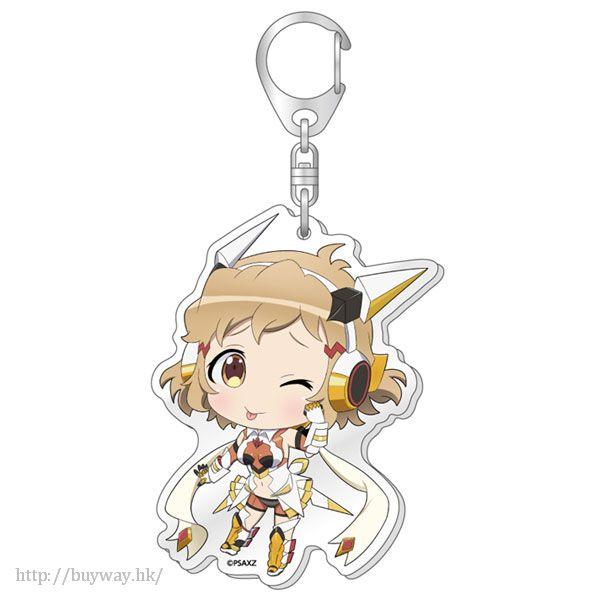 戰姬絕唱SYMPHOGEAR 「立花響」(·ω<)調皮表情 匙扣 Tehepero BIG Acrylic Keychain: Hibiki ver.【Symphogear】