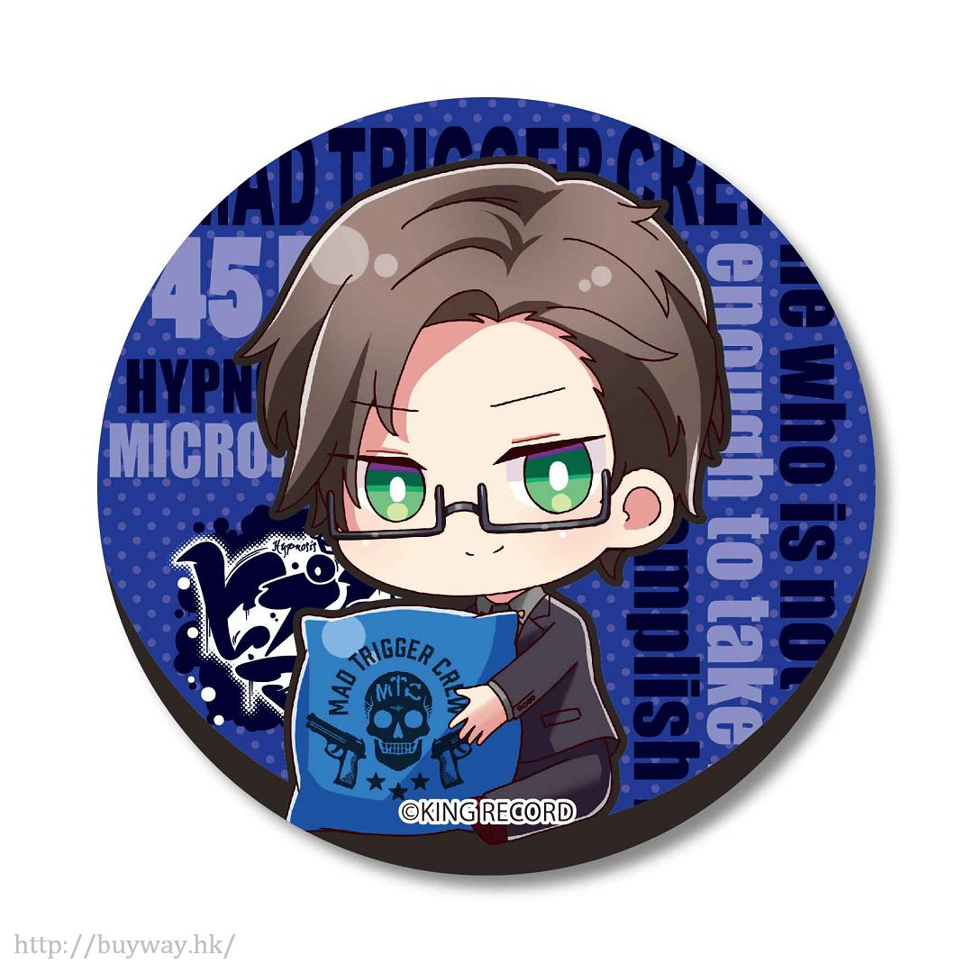 Hypnosismic -Division Rap Battle- 「入間銃兎」抱著Cushion 收藏徽章 GyuGyutto Can Badge Iruma Jyuto【Hypnosismic】