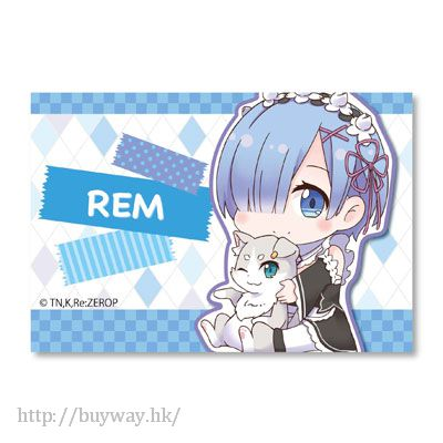 Re:從零開始的異世界生活 「雷姆」抱著帕克 方形大徵章 Gyugyutto BIG Square Can Badge Rem【Re:Zero】