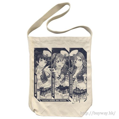 LoveLive! Sunshine!! 「國木田花丸 + 黑澤露比 + 津島善子」卡其色 側揹袋 Yoshiko' Hanamaru' Ruby Shoulder Tote Bag / Natural【Love Live! Sunshine!!】