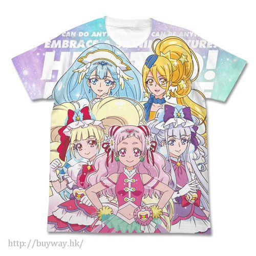 光之美少女系列 (大碼)「野乃花」白色 T-Shirt PreCure Full Graphic T-Shirt / WHITE - L【Pretty Cure Series】