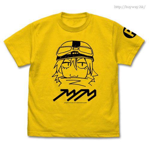 FLCL (加大)「春原晴子」淡黃色 T-Shirt FLCL Haruko T-Shirt / CANARY YELLOW - XL【FLCL】