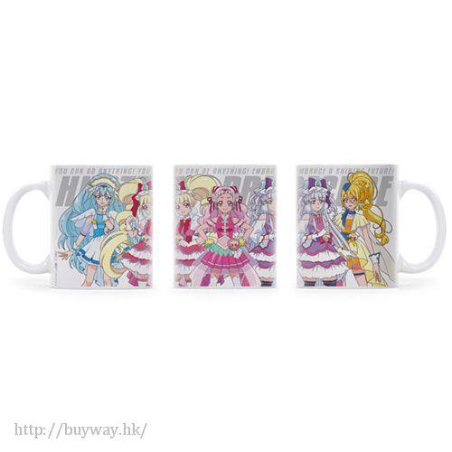 光之美少女系列 「野乃花 + 坂上步 + 露露·艾莫爾」陶瓷杯 PreCure Full Color Mug【Pretty Cure Series】
