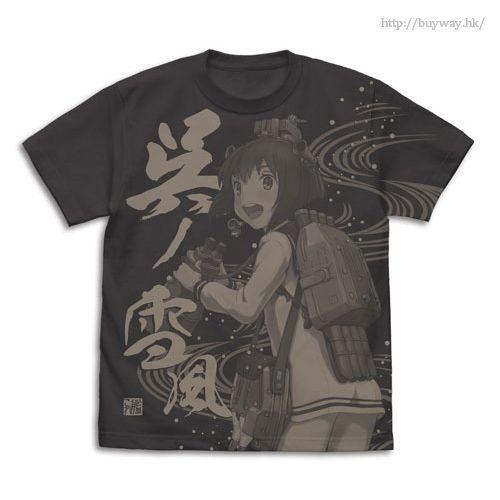 艦隊 Collection -艦Colle- (加大)「雪風」墨黑色 T-Shirt Kure no Yukikaze T-Shirt / SUMI - XL【Kantai Collection -KanColle-】