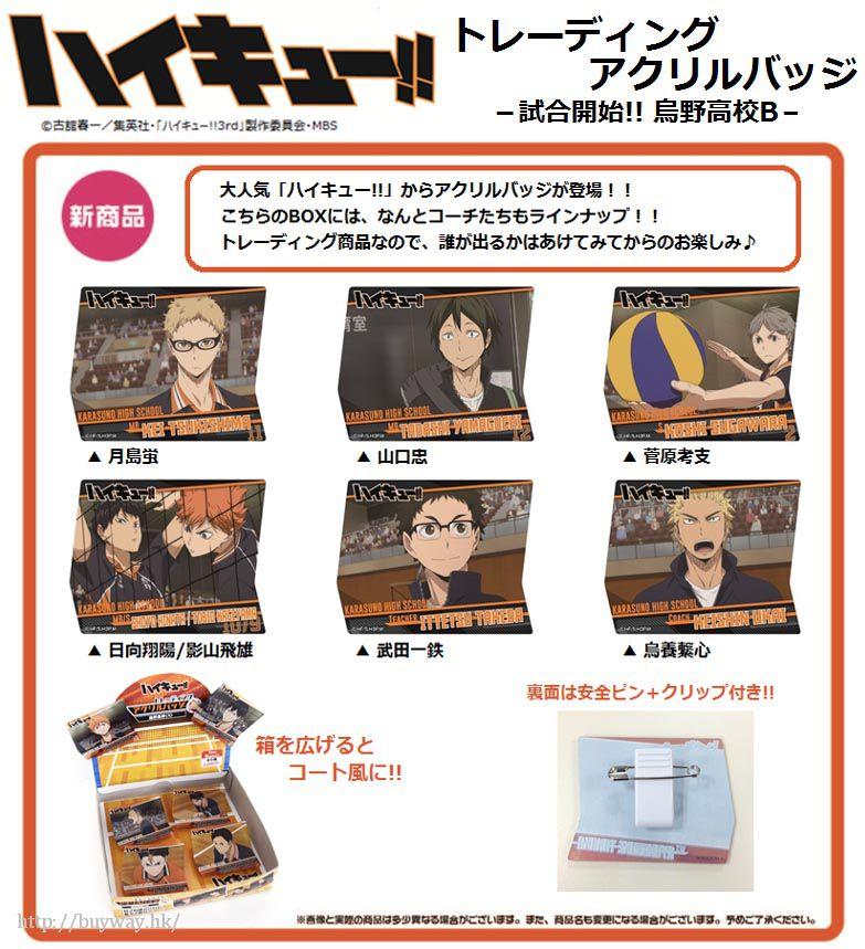 排球少年!! 「烏野高校」比賽開始!!Box B 亞克力徽章 (6 個入) Acrylic Badge -Start Game!! Karasuno High School B- (6 Pieces)【Haikyu!!】
