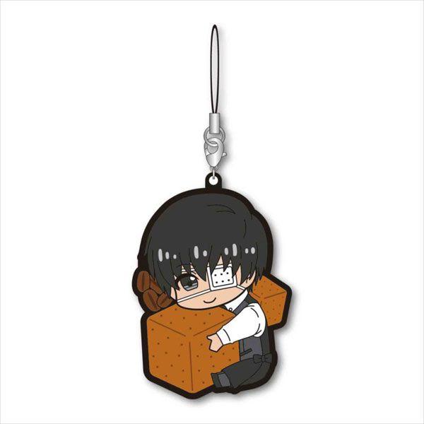 東京喰種 「金木研」侍應 抱著方糖 橡膠掛飾 Gyugyutto Rubber Strap / A【Tokyo Ghoul】