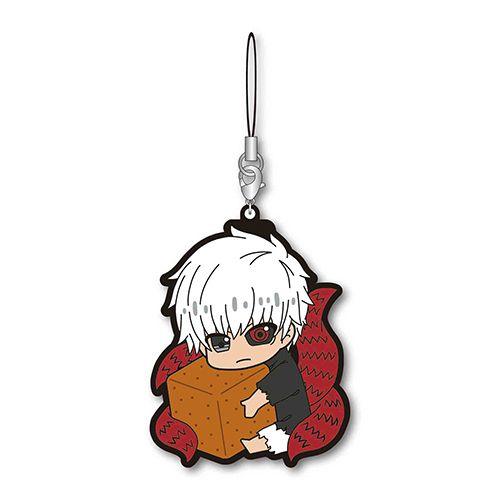 東京喰種 「金木研」覺醒 抱著方糖 橡膠掛飾 Gyugyutto Rubber Strap / B【Tokyo Ghoul】