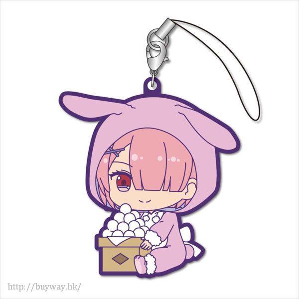 Re:從零開始的異世界生活 「拉姆」月見 Ver. 橡膠掛飾 GyuGyutto Rubber Strap Tsukimi Ver. Ram【Re:Zero】