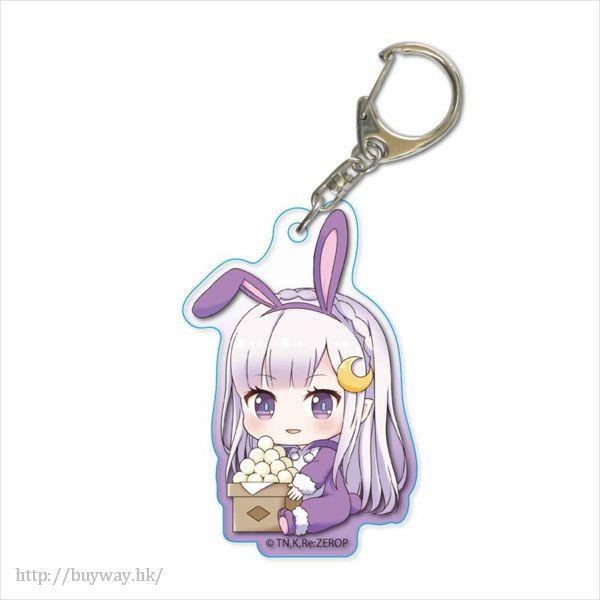 Re:從零開始的異世界生活 「艾米莉婭」月見 Ver. 亞克力匙扣 GyuGyutto Acrylic Key Chain Tsukimi Ver. Emilia【Re:Zero】