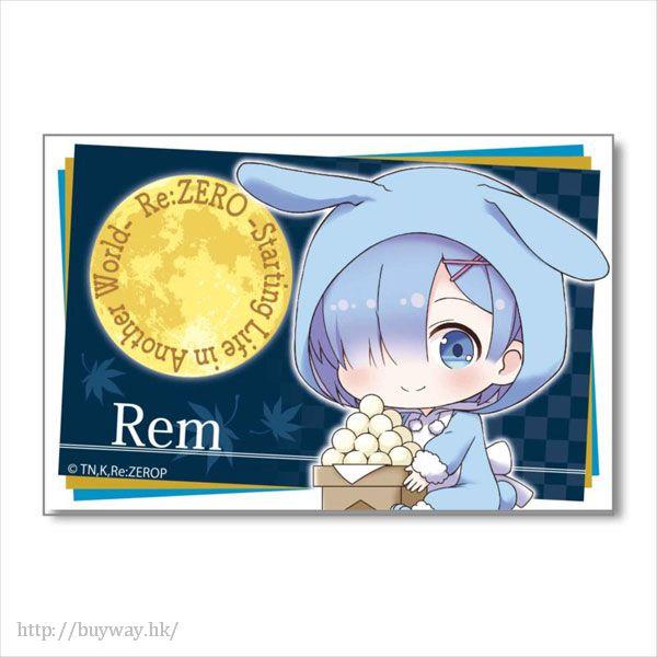 Re:從零開始的異世界生活 「雷姆」月見 Ver. BIG 方形徽章 GyuGyutto Big Square Can Badge Tsukimi Ver. Rem【Re:Zero】