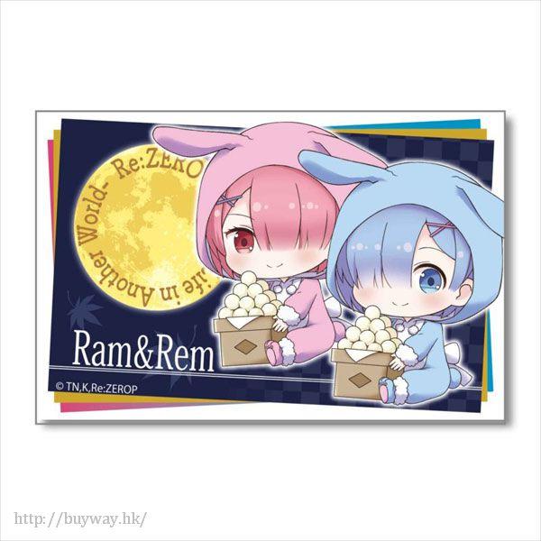 Re:從零開始的異世界生活 「雷姆 + 拉姆」月見 Ver. BIG 方形徽章 GyuGyutto Big Square Can Badge Tsukimi Ver. Ram & Rem【Re:Zero】