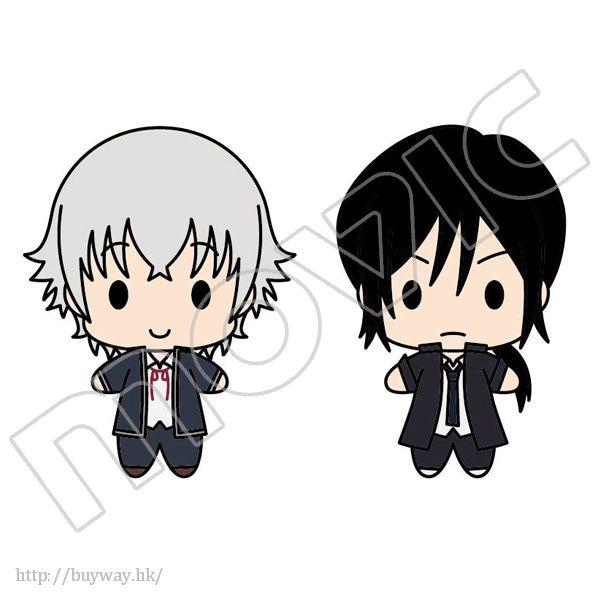K 「伊佐那社 + 夜刀神狗朗」公仔匙扣 Plush Key Chain Set Hakumaitou Set Isana Yashiro & Yatogami Kuro【K】