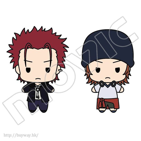K 「八田美咲 + 周防尊」公仔匙扣 Plush Key Chain Set Homra Set 2 Suo Mikoto & Yata Misaki【K】