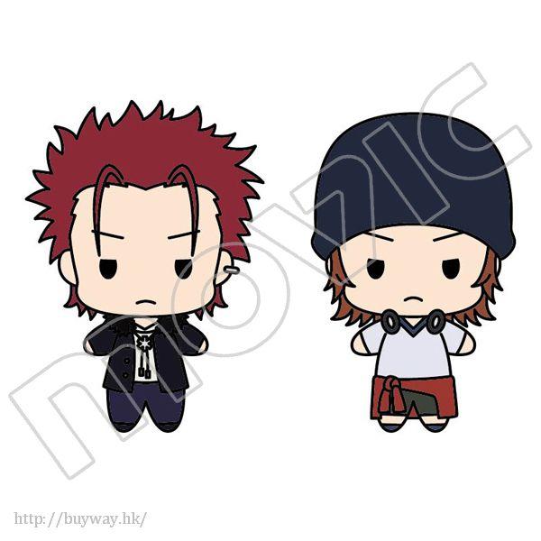 K 「八田美咲 + 周防尊」公仔匙扣 Plush Key Chain Set Homra Set 2 Suo Mikoto & Yata Misaki【K Series】