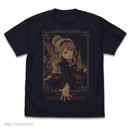 偶像大師 百萬人演唱會! (加大)「天空橋朋花」夜想令孃 深海軍藍 T-Shirt Yasou Reijou Tomoka Tenkuubashi T-Shirt /DARK NAVY-XL【The Idolm@ster Million Live!】
