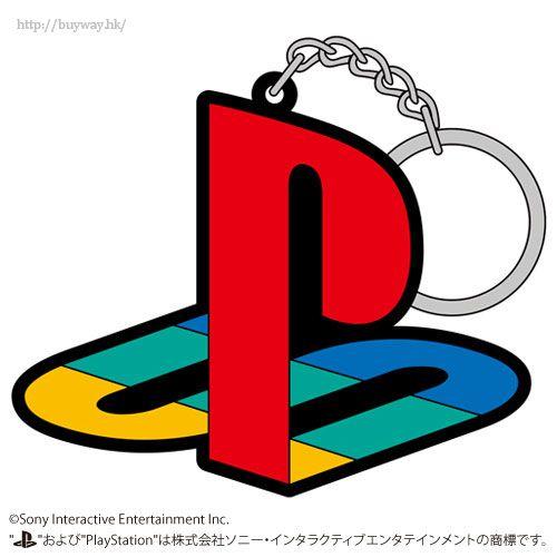 "PlayStation 「PlayStation」初代 橡膠 匙扣 Rubber Keychain 1st Gen. ""PlayStation Family Mark""【PlayStation】"