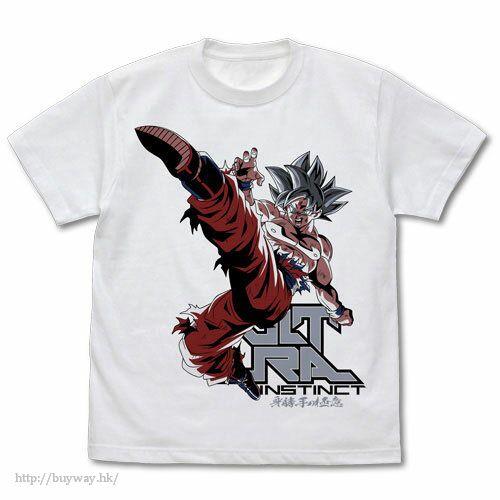 龍珠 (加大)「孫悟空」白色 T-Shirt Ultra Instinct Goku T-Shirt /WHITE-XL【Dragon Ball】