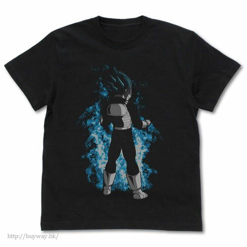 龍珠 (加大)「比達」黑色 T-Shirt Super Saiyan Blue Vegeta T-Shirt /BLACK-XL【Dragon Ball】