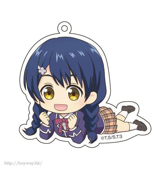 食戟之靈 「田所惠」躺下亞克力匙扣 Gororin Acrylic Key Chain 3 Tadokoro Megumi【Food Wars: Shokugeki no Soma】