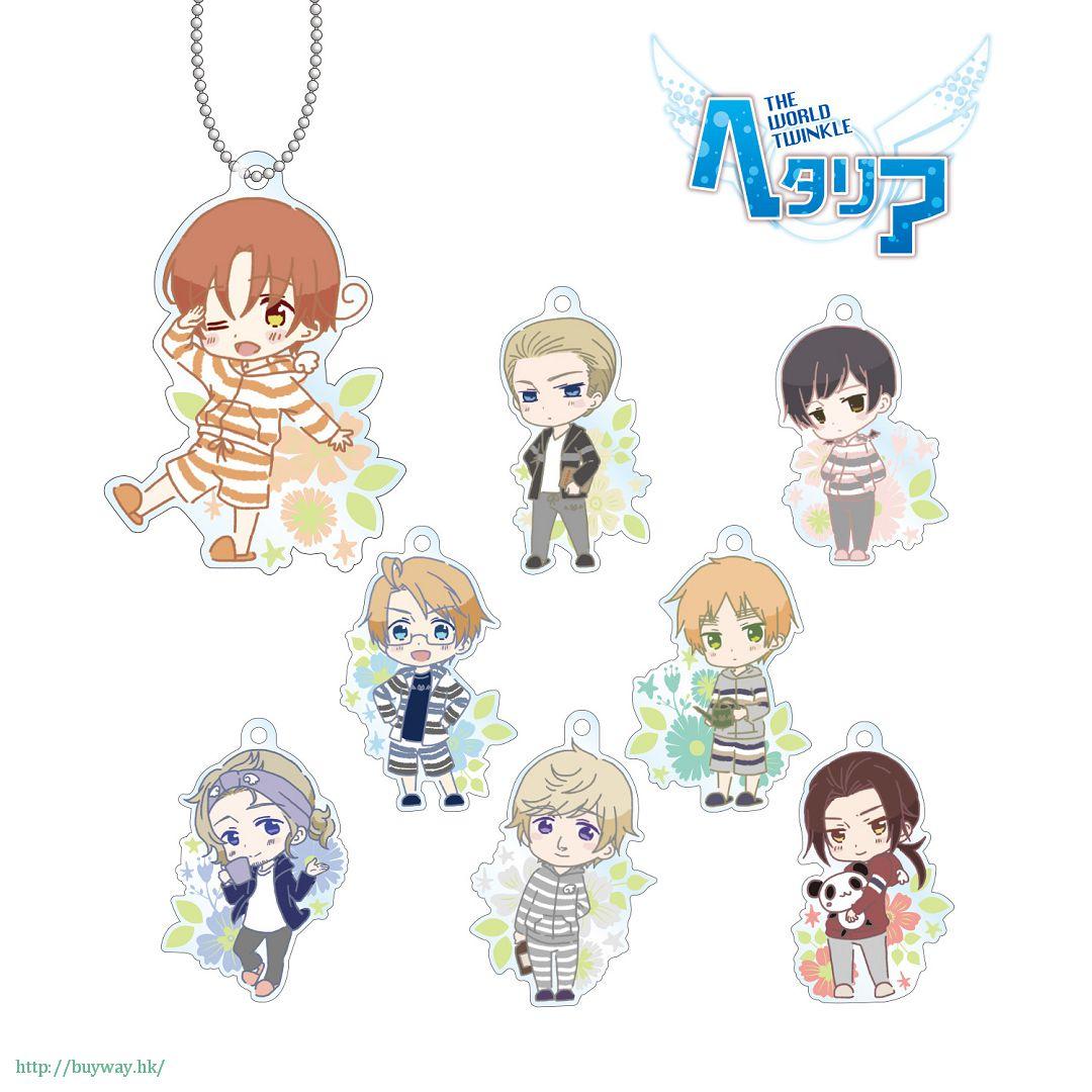 黑塔利亞 Relax Style 亞克力匙扣 (8 個入) Acrylic Key Chain Relax Style Ver. (8 Pieces)【Hetalia】