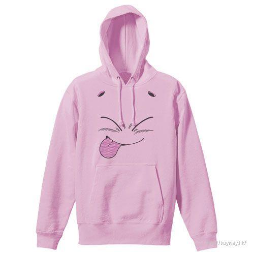 龍珠 (大碼)「魔人布歐」淺粉紅 連帽衫 Majin Buu Face Pullover Hoodie /LIGHT PINK-L【Dragon Ball】