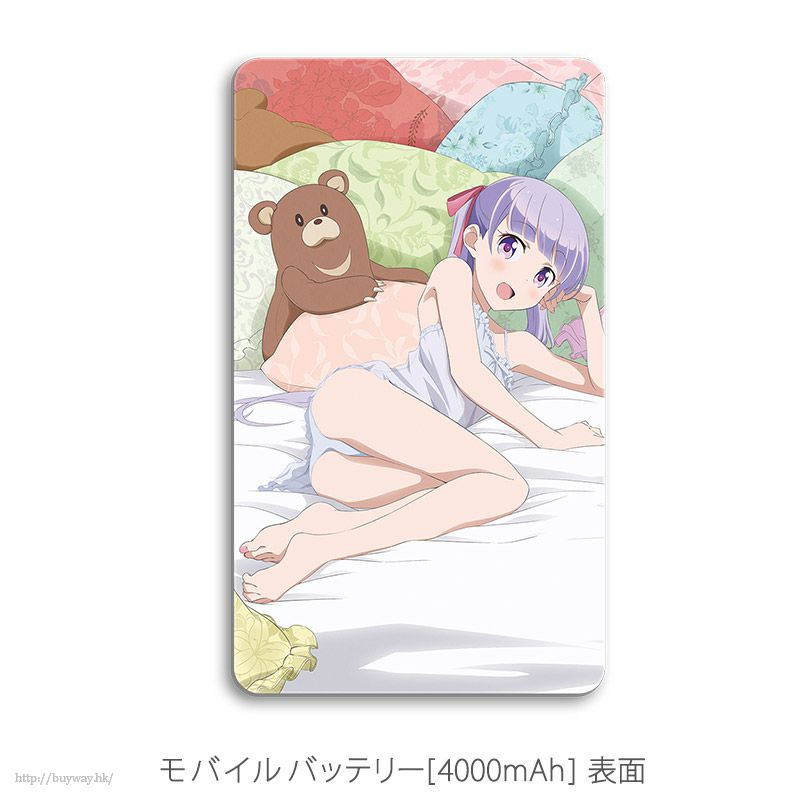 New Game! 「涼風青葉 + 瀧本日富美」4000mAh 充電器 Original Illustration Mobile Battery Suzukaze Aoba & Takimoto Hifumi【New Game!】