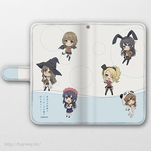 青春豬頭少年系列 SD Ver. 163mm 筆記本型手機套 Book Type Smartphone Case SD Character (L Size)【Seishun Buta Yaro】