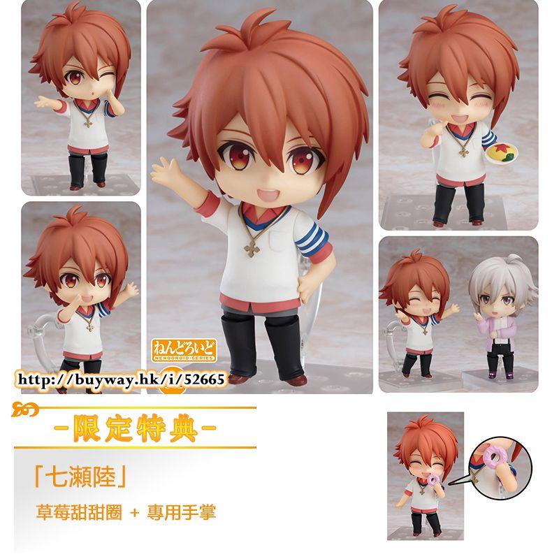 IDOLiSH7 「七瀬陸」Q版 黏土人 (限定特典︰草莓甜甜圈 + 專用手掌) Nendoroid Nanase Riku ONLINESHOP Limited【IDOLiSH7】