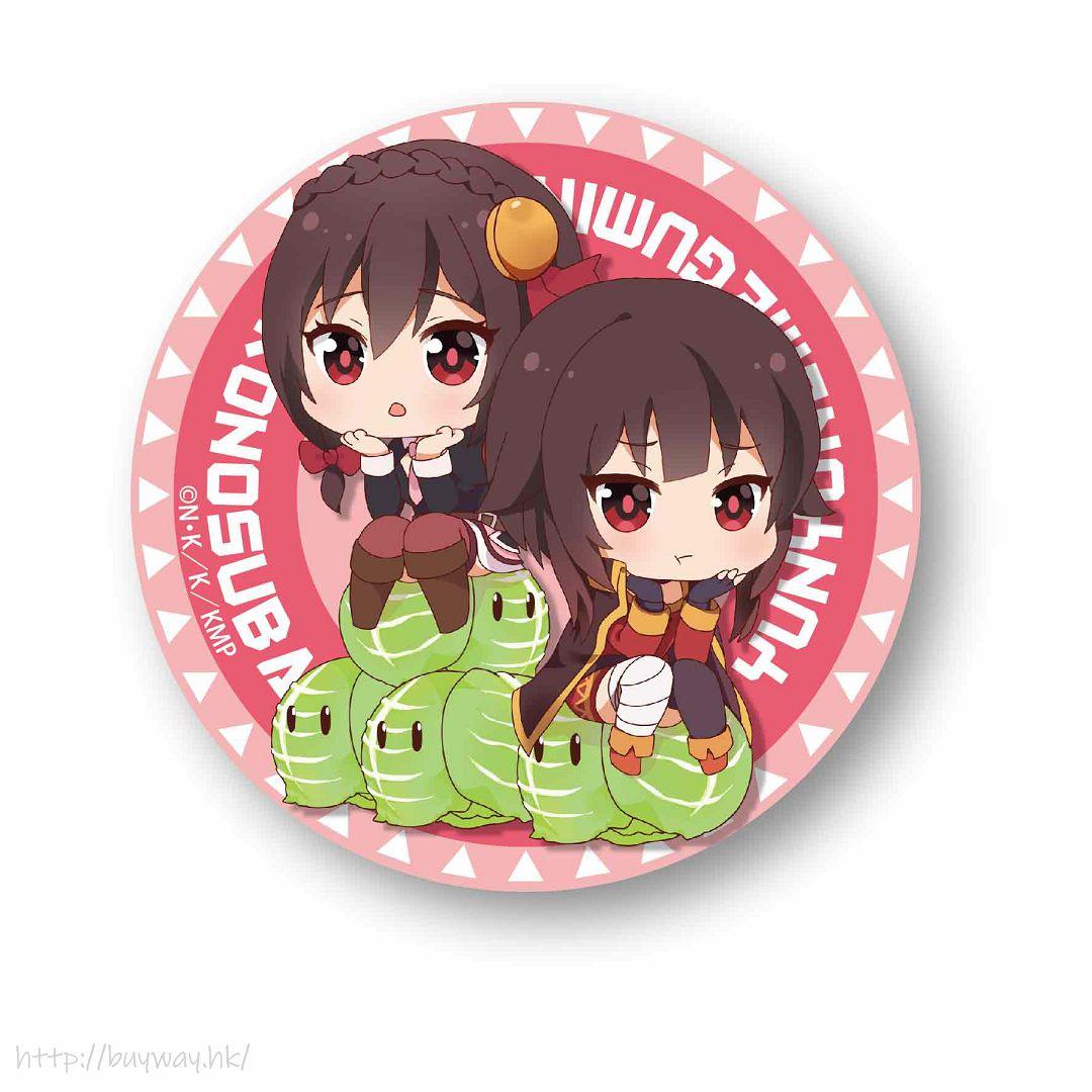 為美好的世界獻上祝福! 「芸芸 + 惠惠」坐上高麗菜 收藏徽章 Nayamun Can Badge Yunyun & Megumin【KonoSuba: God's Blessing on This Wonderful World!】