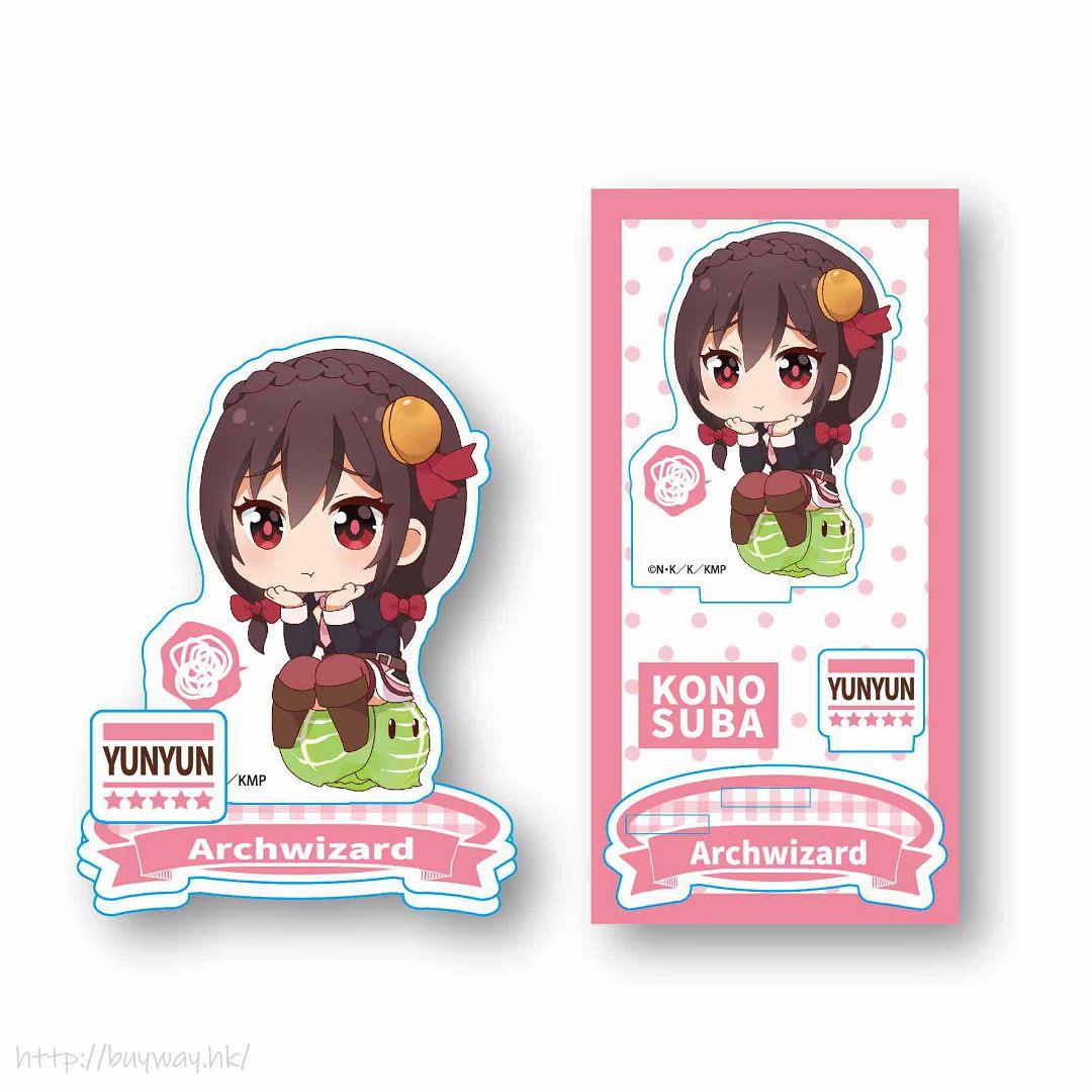 為美好的世界獻上祝福! 「芸芸」坐上高麗菜 亞克力企牌 Nayamun Acrylic Figure Yunyun【KonoSuba: God's Blessing on This Wonderful World!】
