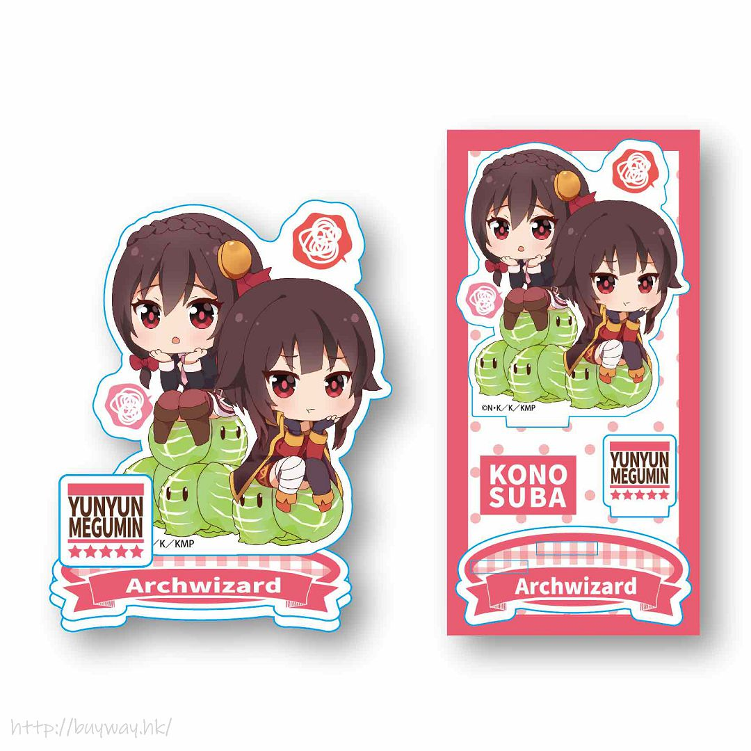 為美好的世界獻上祝福! 「芸芸 + 惠惠」坐上高麗菜 亞克力企牌 Nayamun Acrylic Figure Yunyun & Megumin【KonoSuba: God's Blessing on This Wonderful World!】