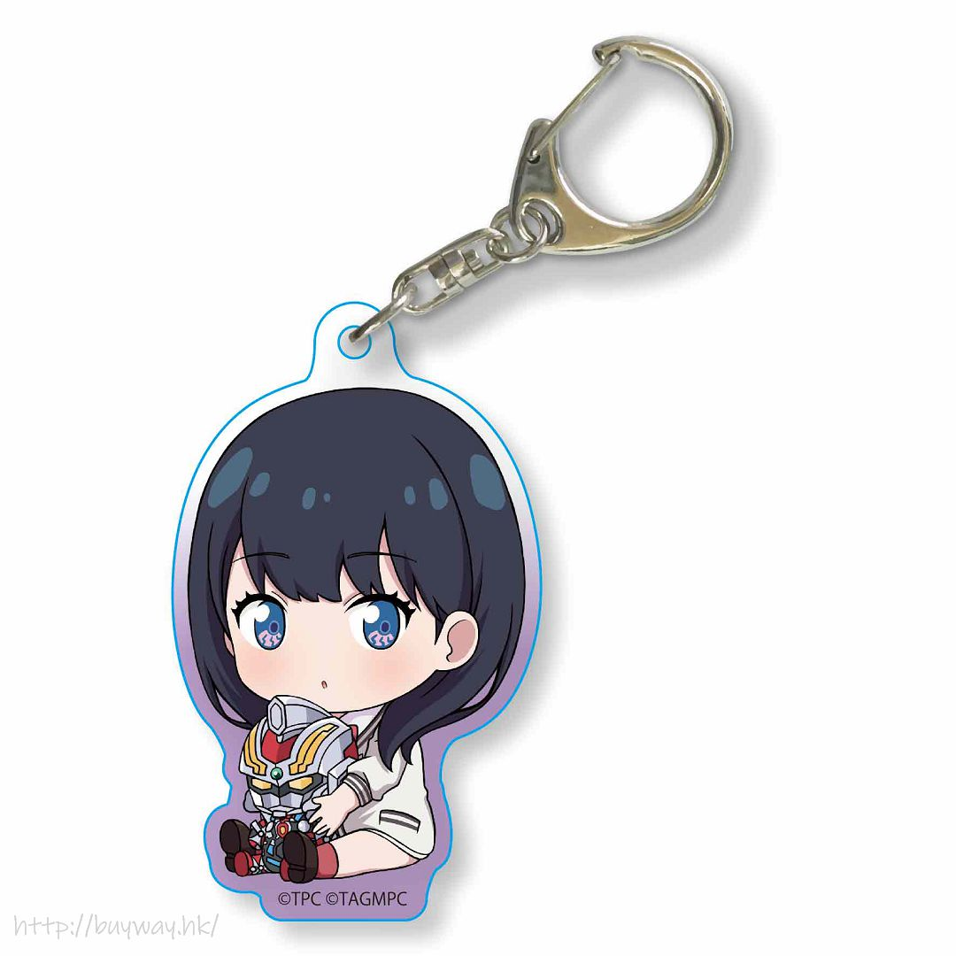 SSSS.Gridman 「寶多六花」抱著古立特 亞克力匙扣 GyuGyutto Acrylic Key Chain Takarada Rikka【SSSS.Gridman】