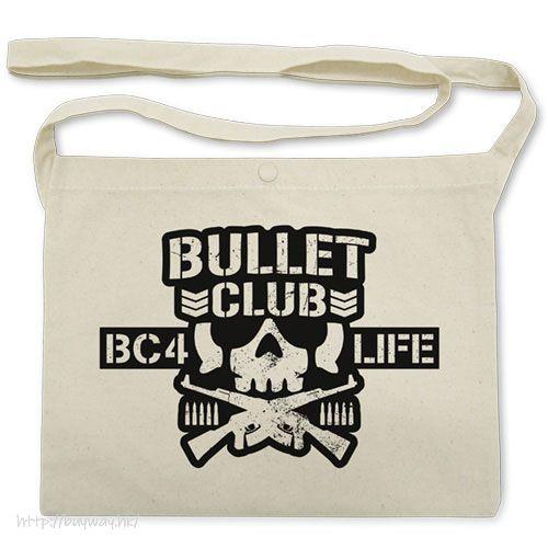 新日本職業摔角 「BULLET CLUB」米白 袋子 BULLET CLUB Musette Bag /NATURAL【New Japan Pro-Wrestling】