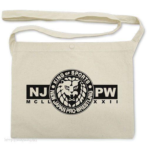新日本職業摔角 獅子 Logo 米白 袋子 Lion Mark Musette Bag /NATURAL【New Japan Pro-Wrestling】