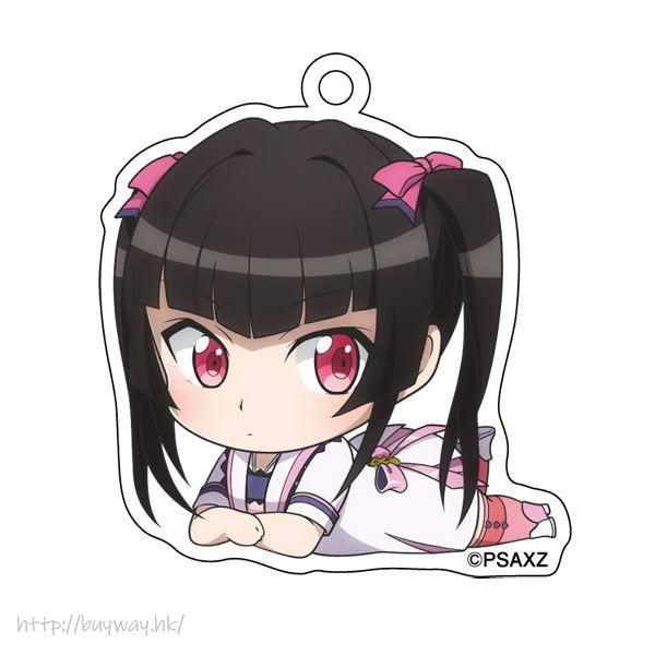 戰姬絕唱SYMPHOGEAR 「月讀調」躺下亞克力匙扣 Gororin Acrylic Key Chain 5 Tsukuyomi Shirabe【Symphogear】
