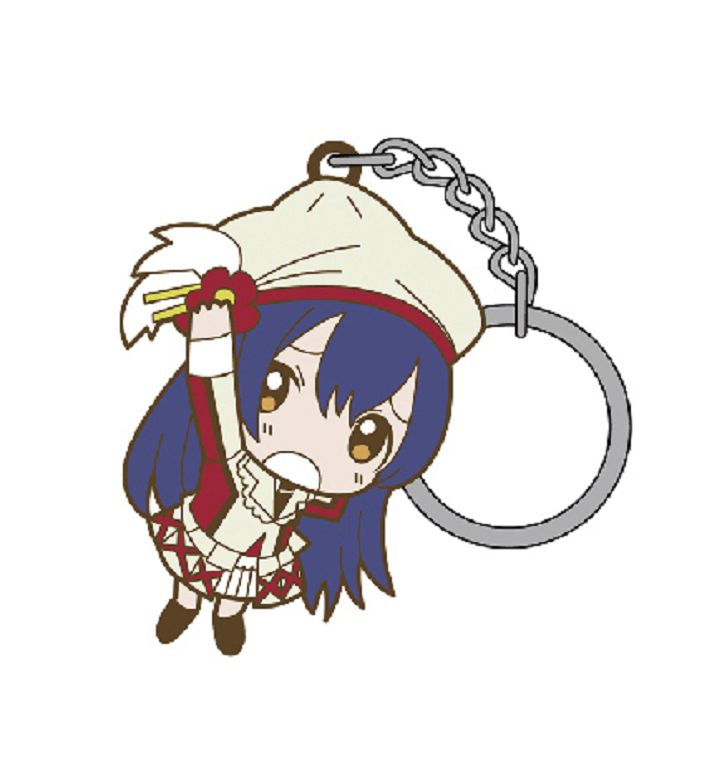 LoveLive! 明星學生妹 (3 枚入)「園田海未」這就是我們的奇蹟 Ver. 匙扣 (3 Pieces) Tsumamare Key Chain Sore wa Bokutachi no Kiseki Ver. Sonoda Umi【Love Live! School Idol Project】