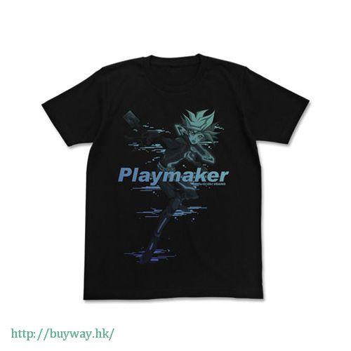 遊戲王 (加大)「藤木遊作」黑色 T-Shirt Playmaker T-Shirt / Black - XL【Yu-Gi-Oh!】