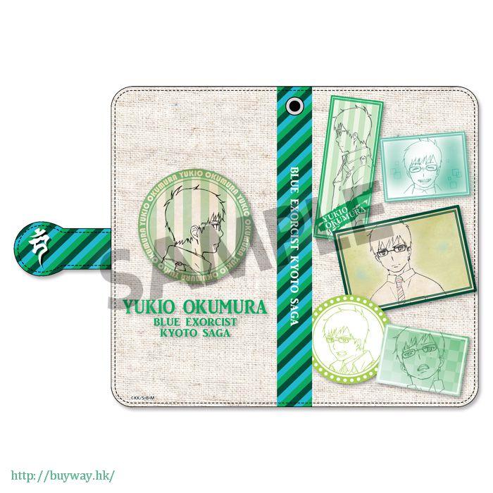 青之驅魔師 「奧村雪男」筆記本型手機套 Book Type Smartphone Case Okumura Yukio【Blue Exorcist】