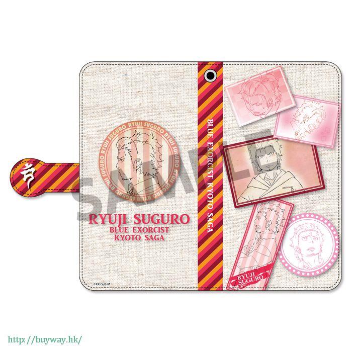 青之驅魔師 「勝呂龍士」筆記本型手機套 Book Type Smartphone Case Suguro Ryuji【Blue Exorcist】